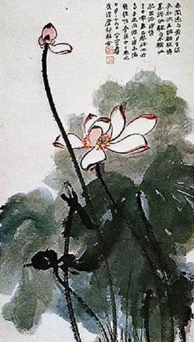 天岳税收茶座之历代名家国画荷花作品赏析